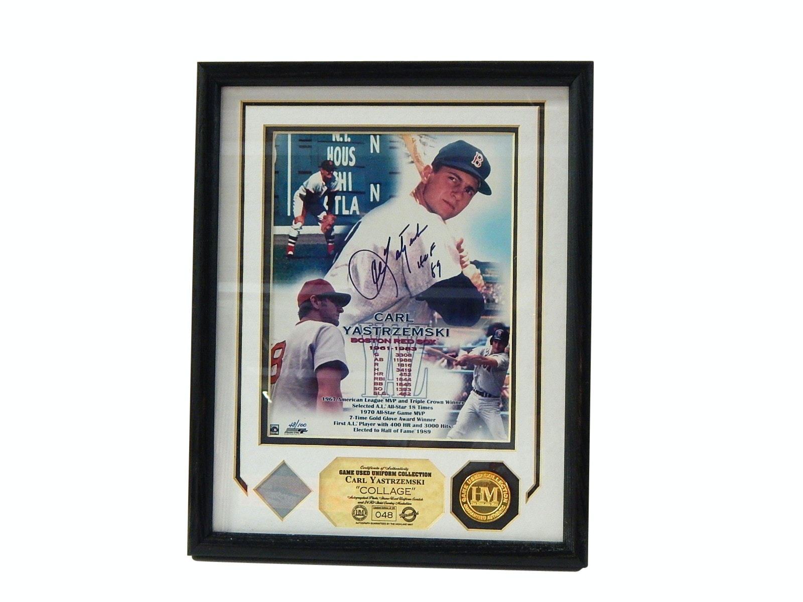 HOF Carl Yastrzemski Signed L/E Collage with Game Used Uniform and COA