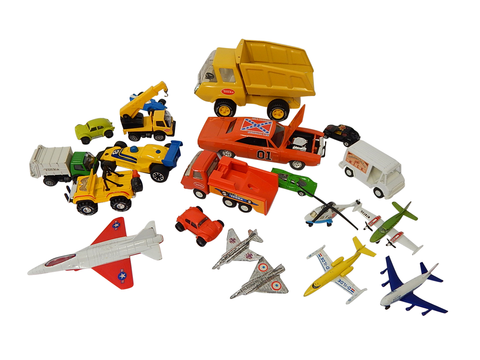 toy cars and trucks. Lot Of Die-Cast Toy Cars And Trucks With Ertl, Tonka,