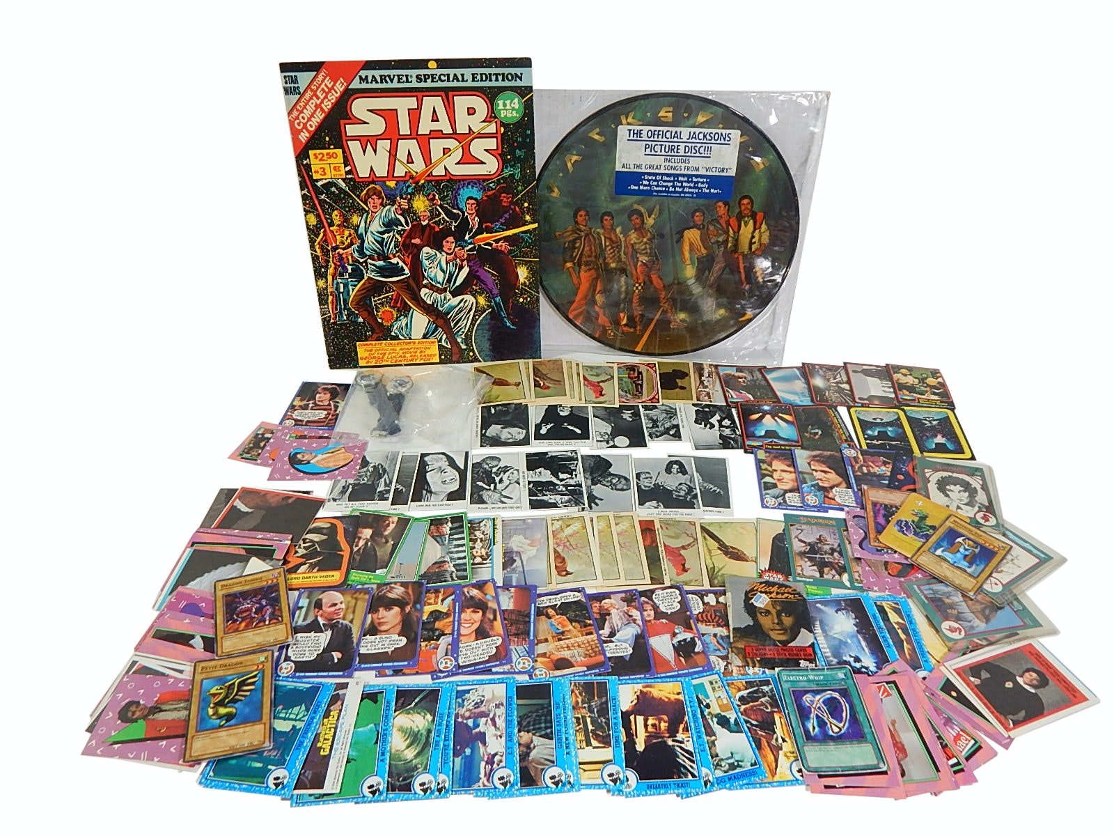 Star Wars Collectibles, Non-Sport Cards, 1984 CBS Michael Jackson Album,More