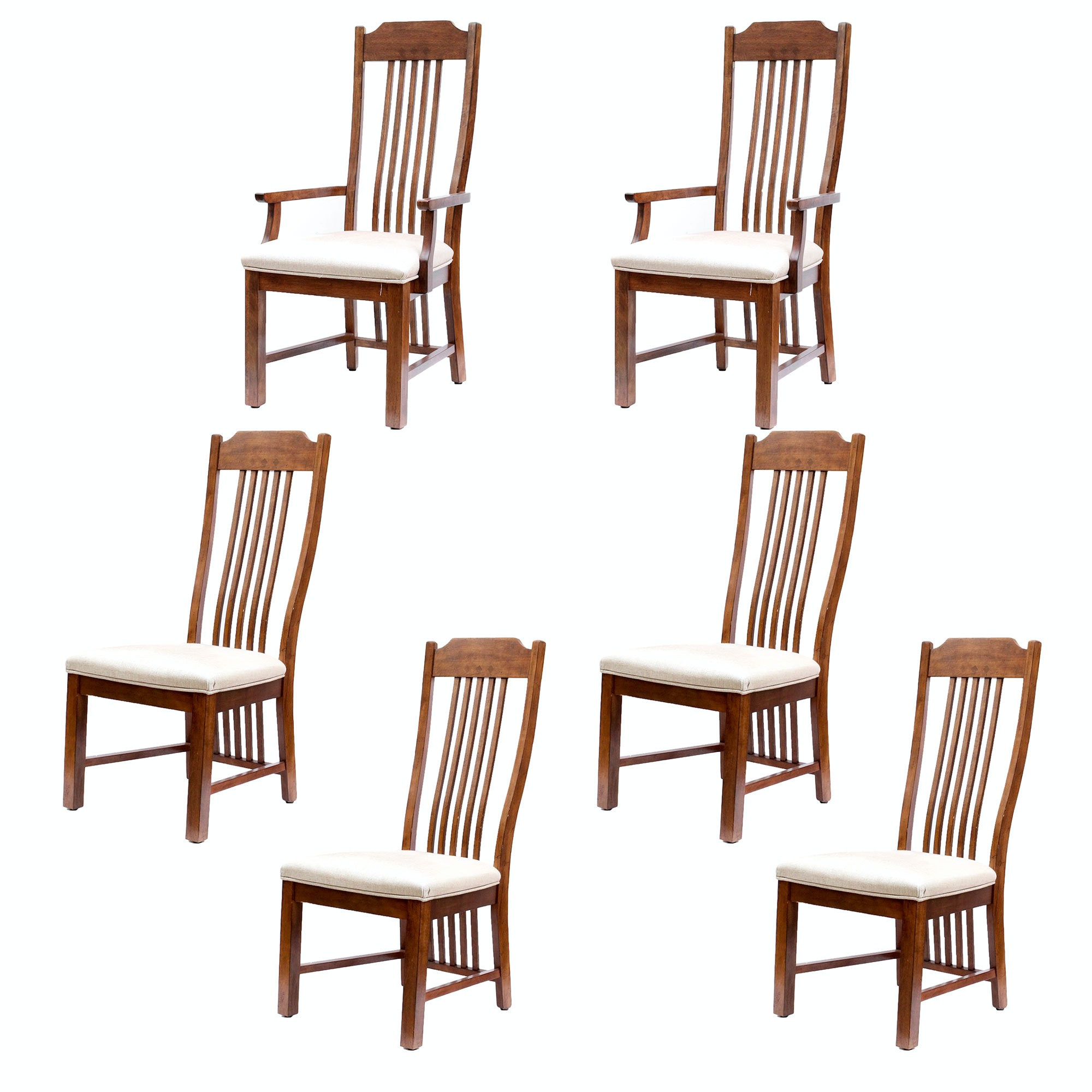 Mission Inspired Oak Dining Chairs
