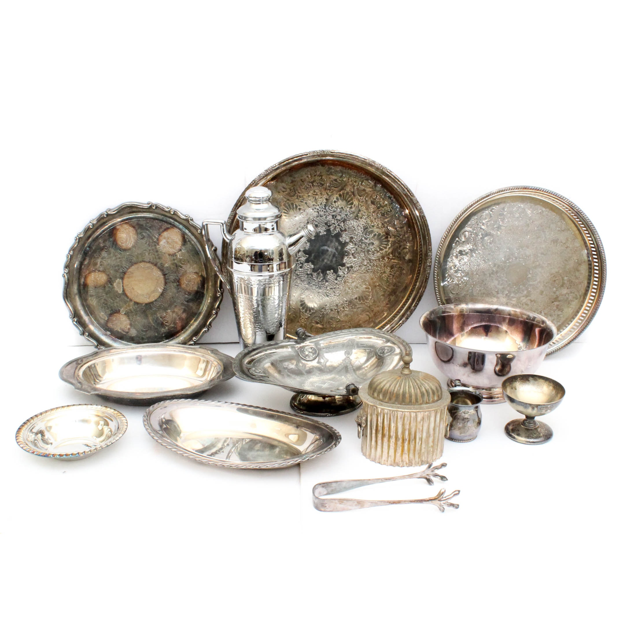 Silver Plated Tableware Featuring Paul Revere Reproduction Bowl