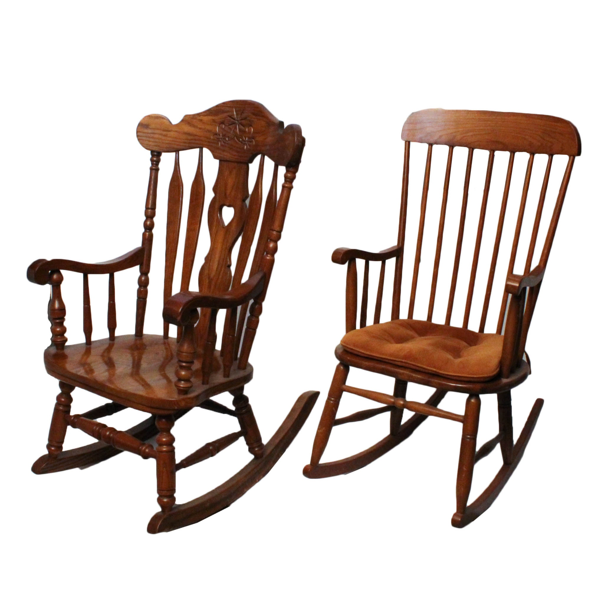 Solid Oak Rocking Chairs