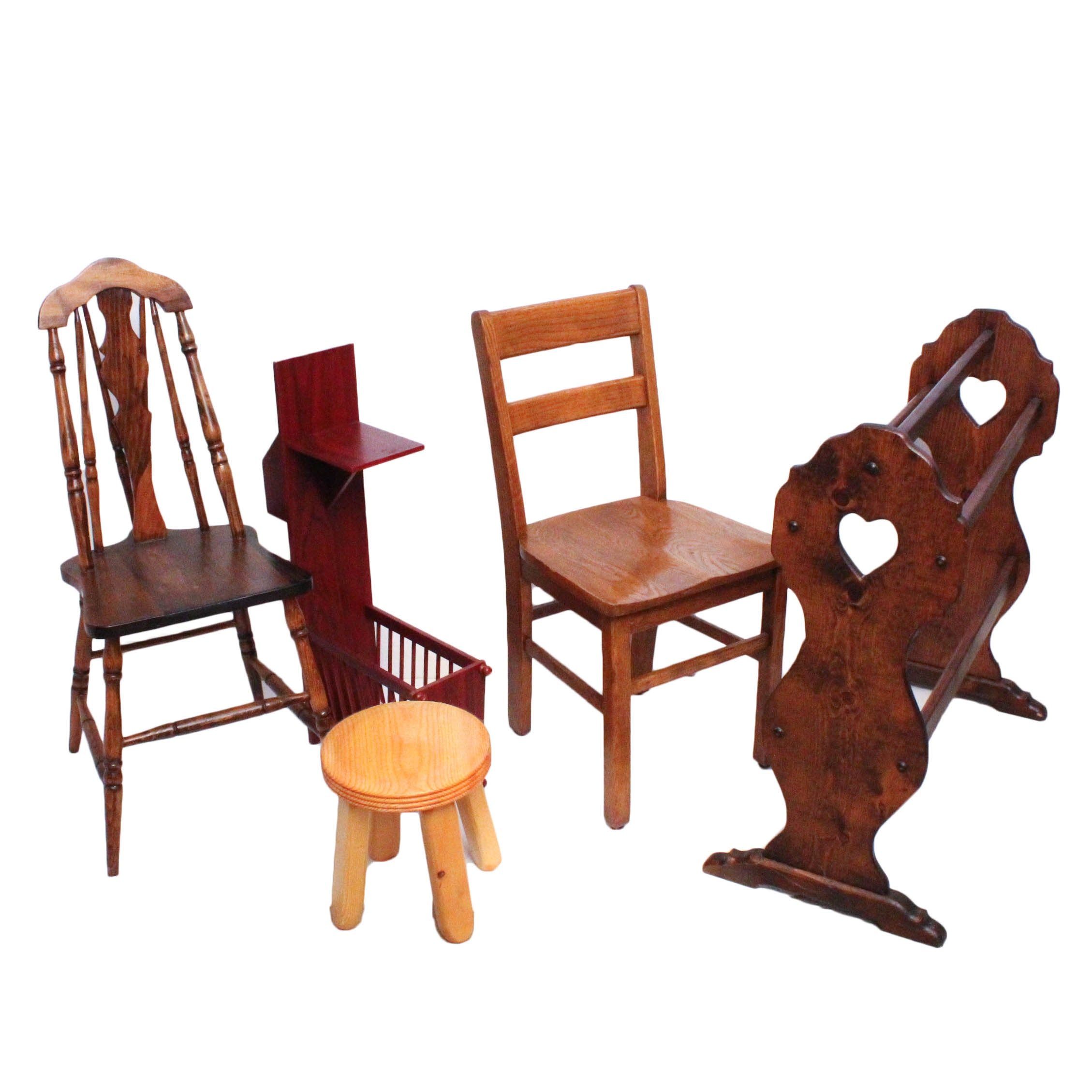 Vintage Wooden Accent Furniture