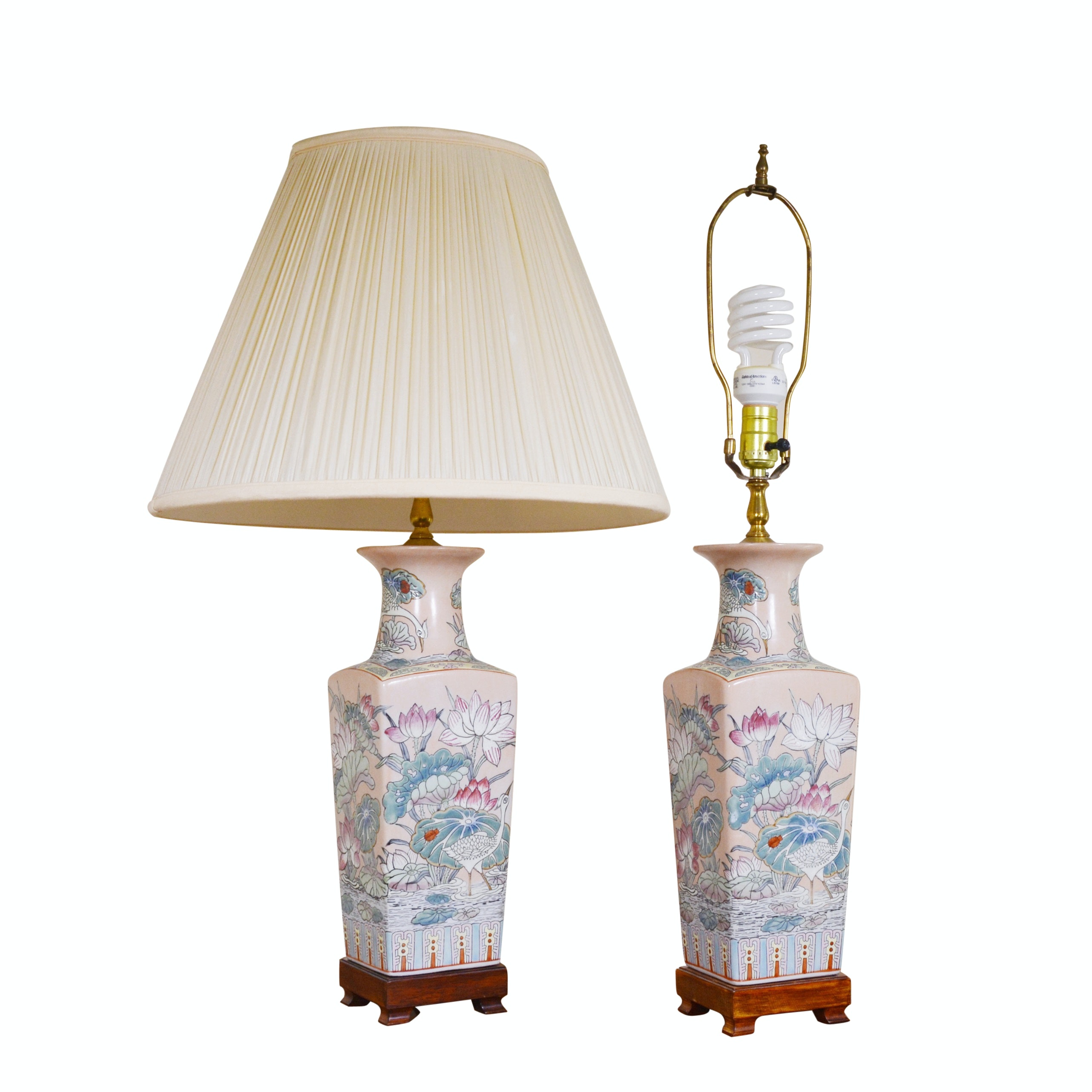 Asian Style Ceramic Table Lamps