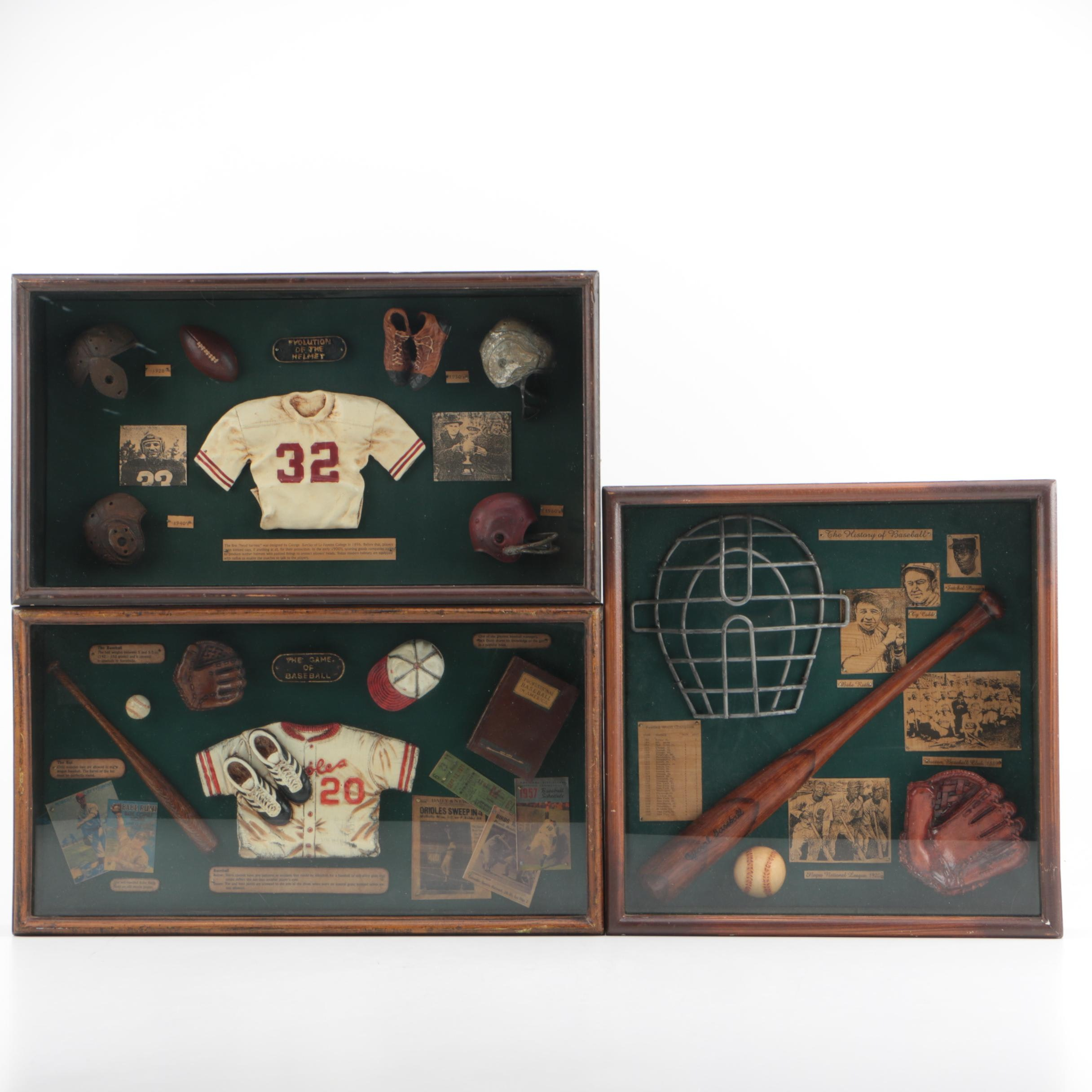 Sports Themed Shadowboxes