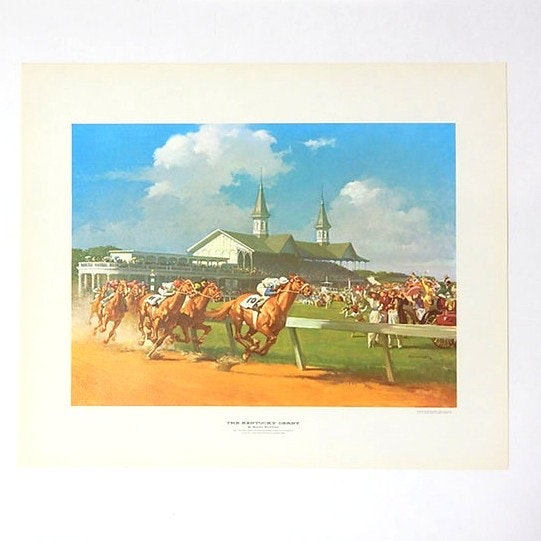"1963 Unframed Lithograph ""The Kentucky Derby"" after Haddon Sundblom"