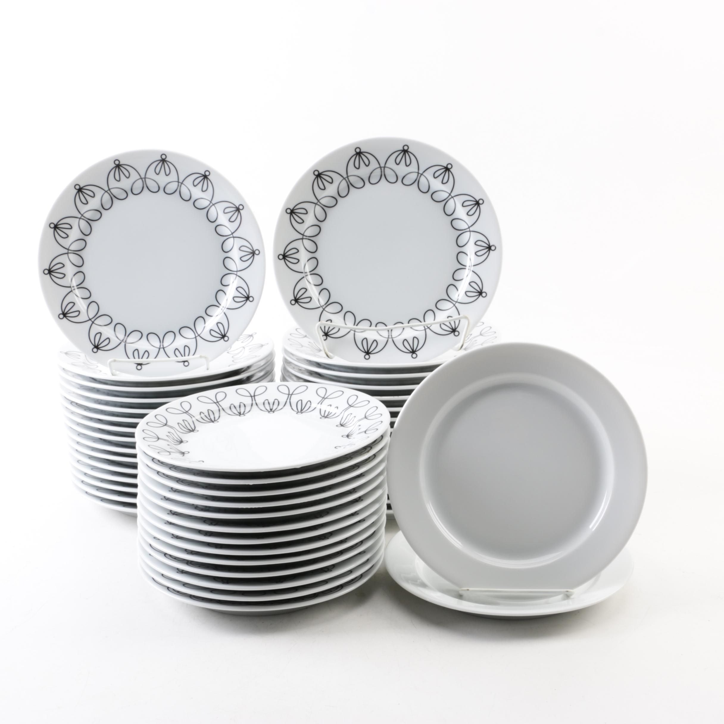 Collection of notNeutral  Ribbon Black  Ceramic Plates ...  sc 1 st  EBTH.com & Collection of notNeutral