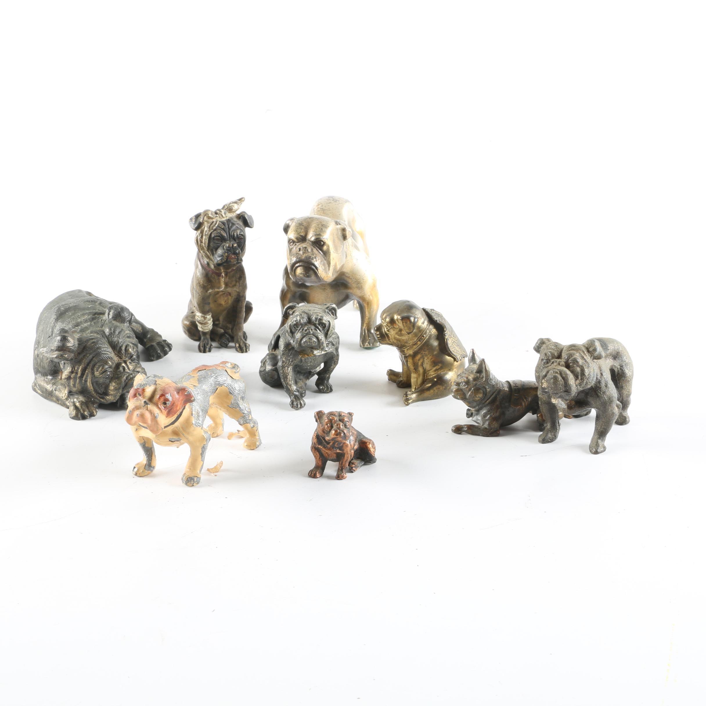 Metal Bulldog Figurine Collection