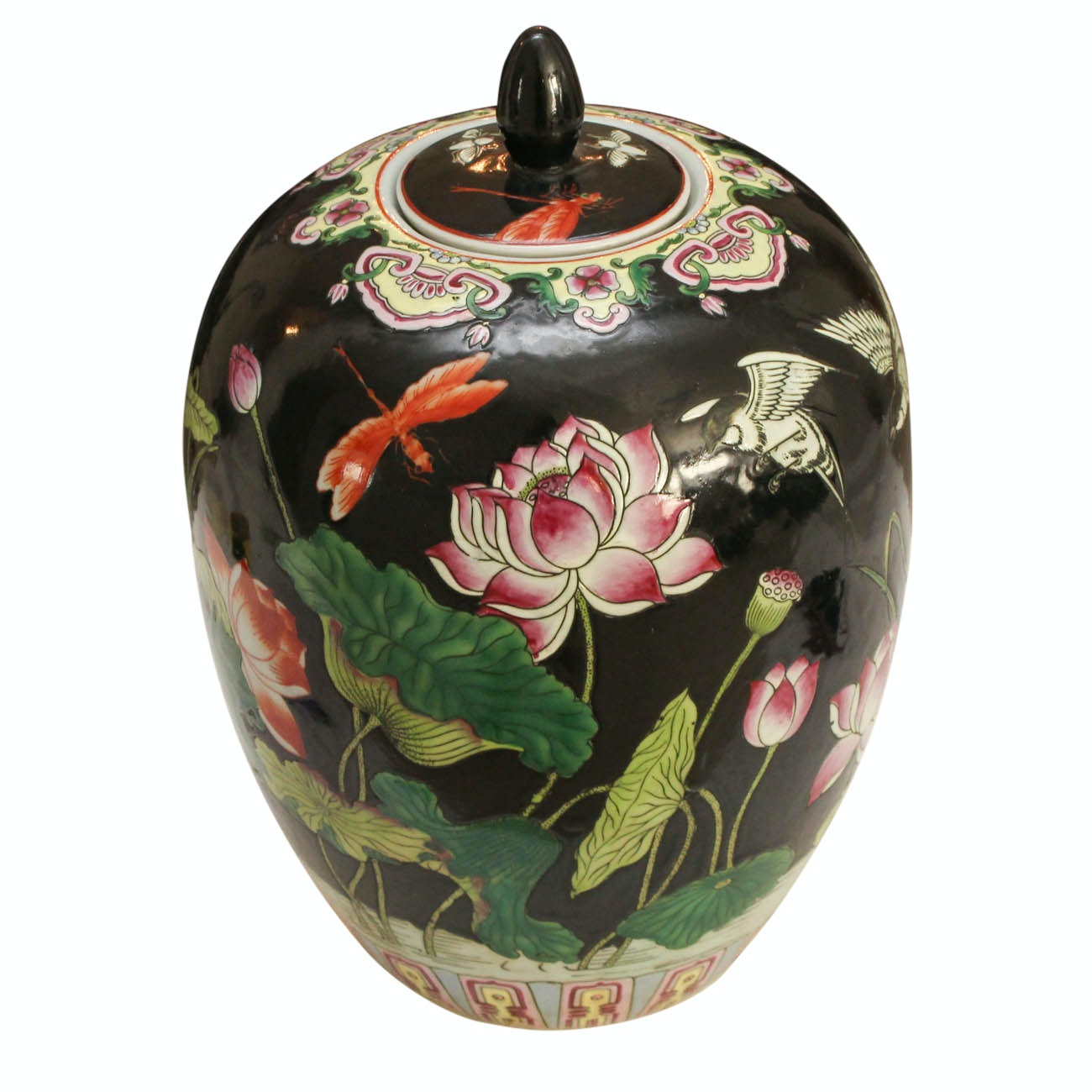 Chinese Painted Ginger Jar