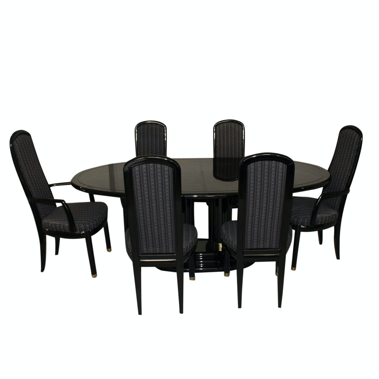 "Henredon ""Scene Three"" Dining Table and Chairs"