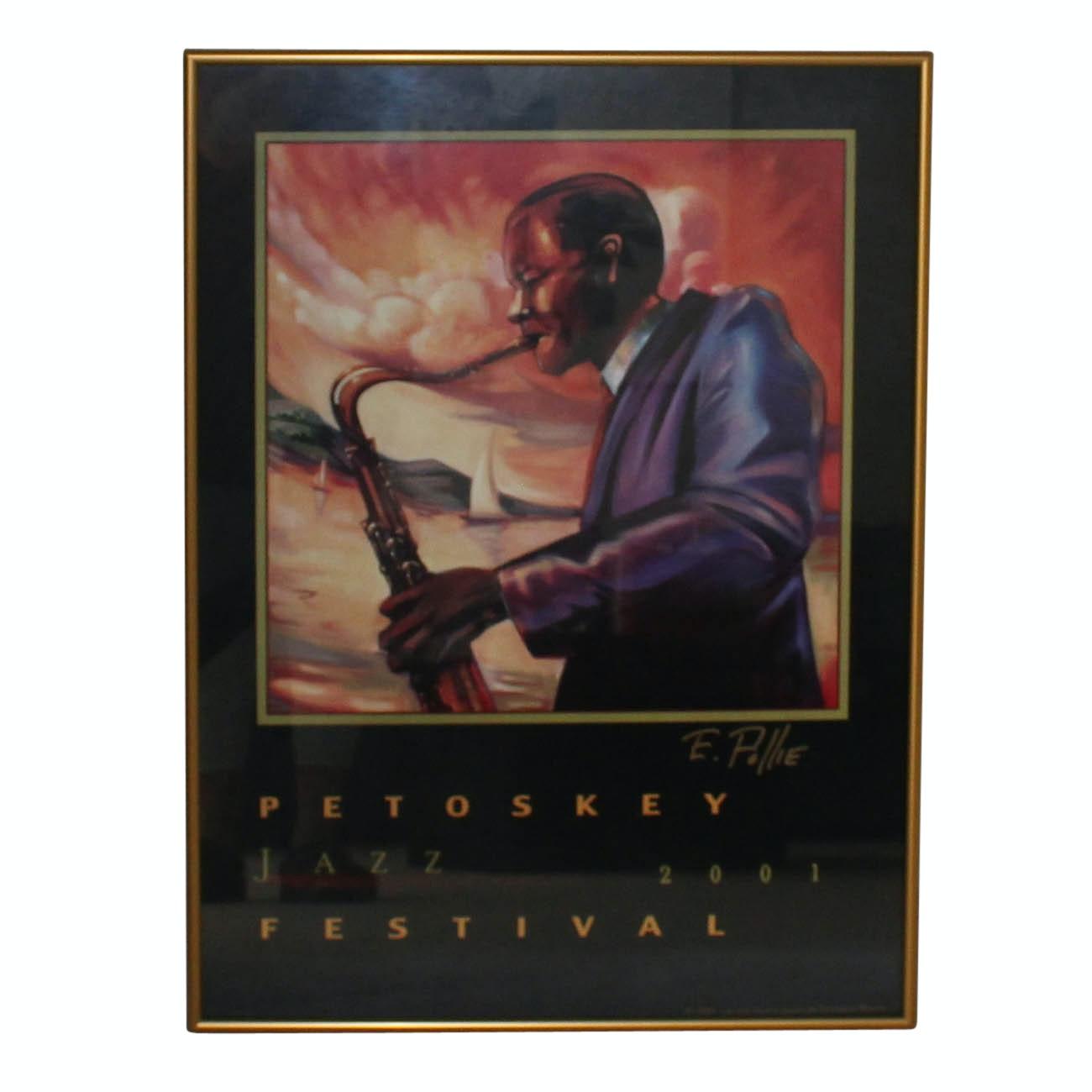 "Signed ""2001 Petoskey Jazz Festival"" Poster"