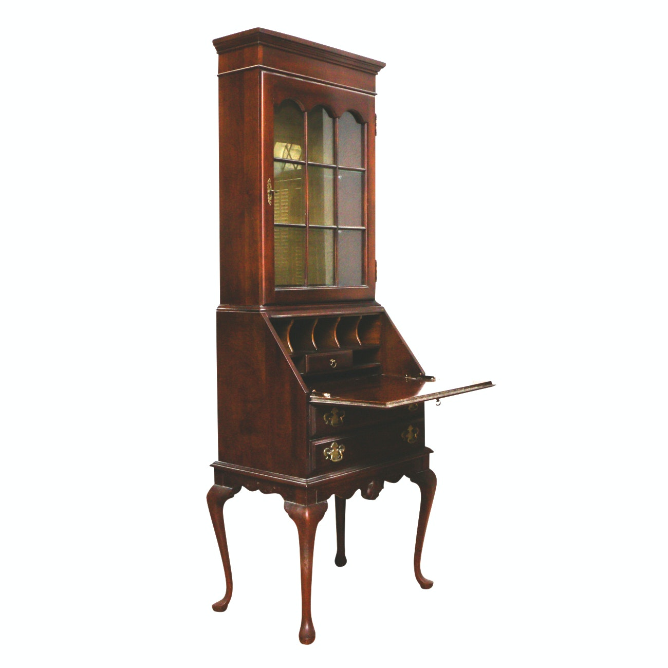 Vintage Secretary with Illuminated Hutch