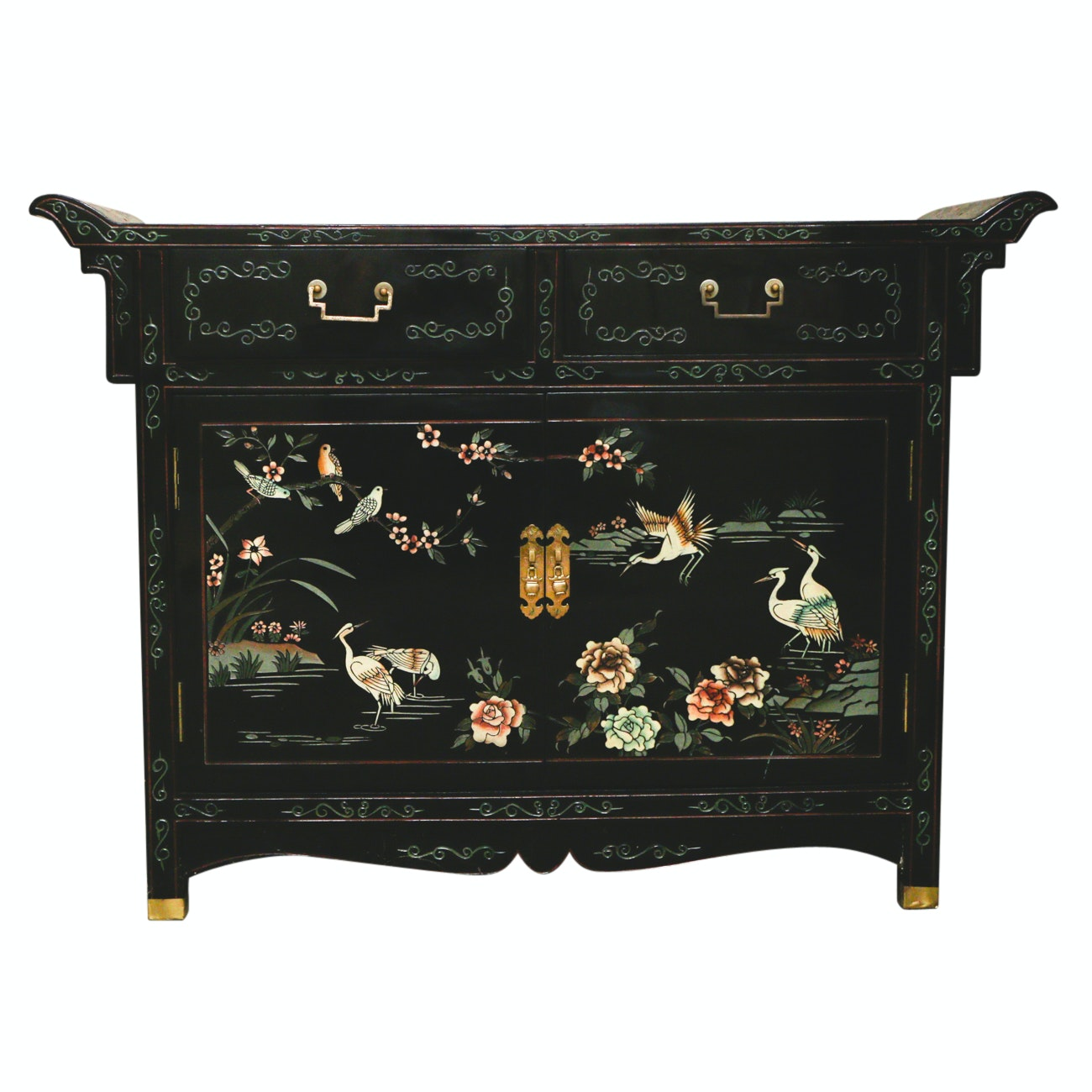 Chinoiserie Painted Side Cabinet
