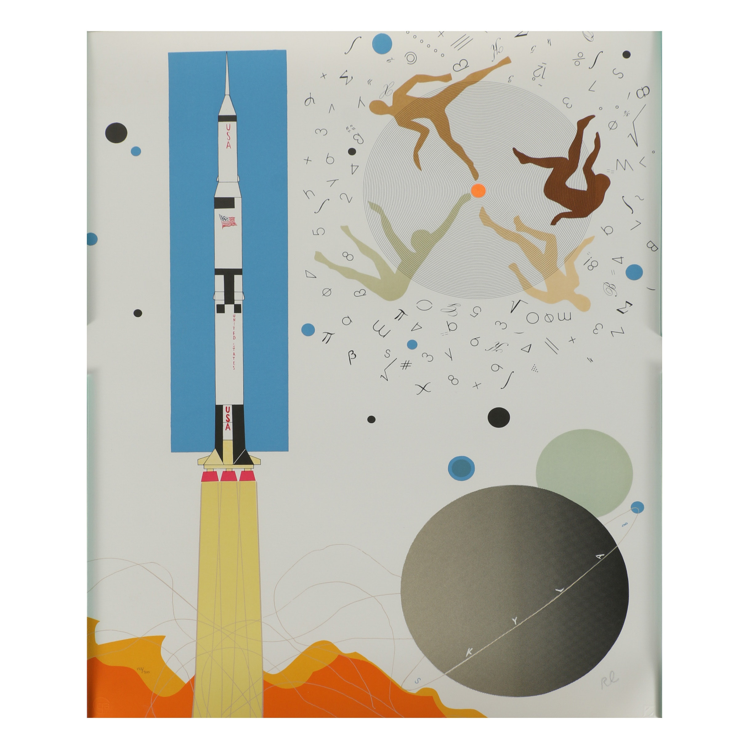"Raymond Loewy Limited Edition Lithograph ""Rocket"""