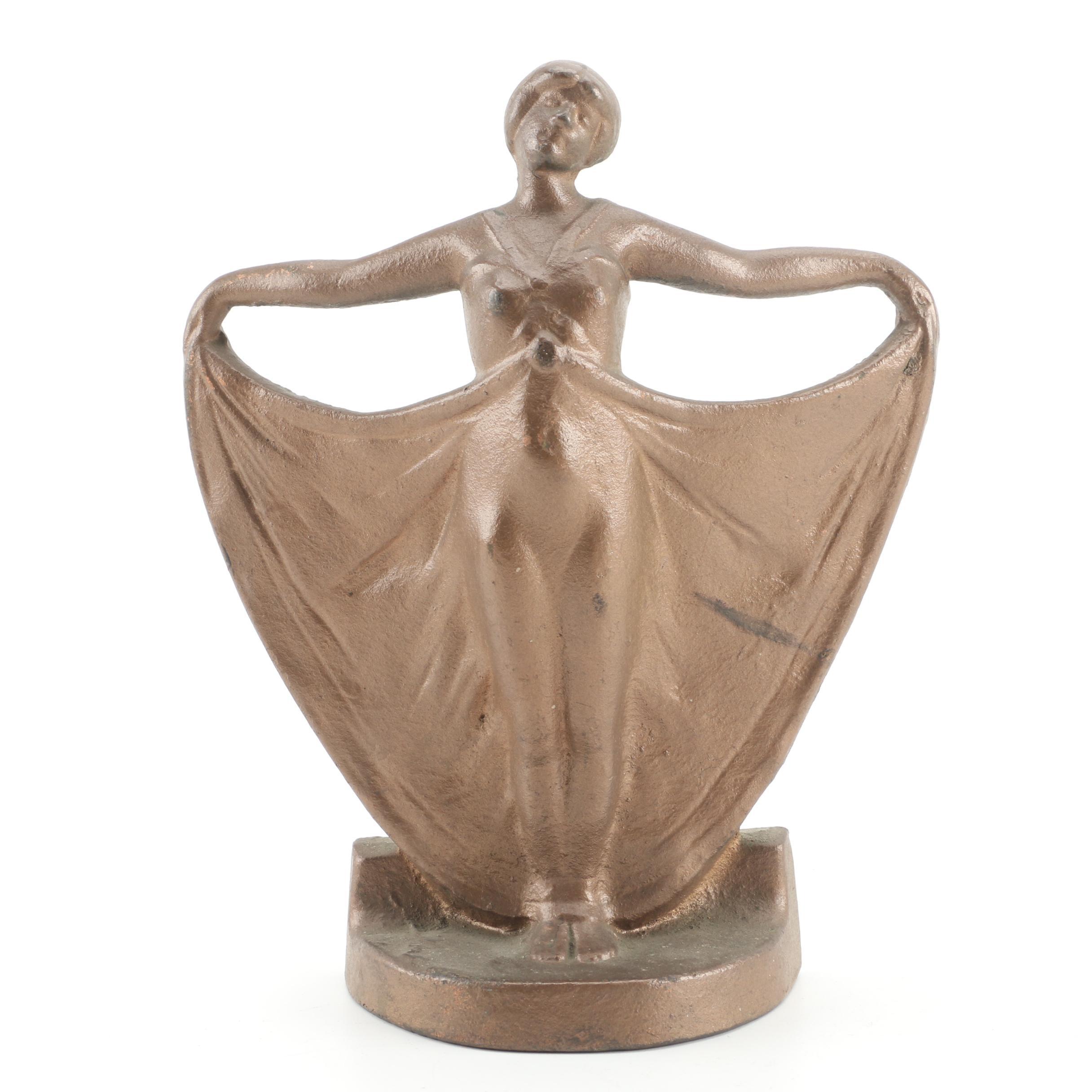Judd Company Art Deco Dancing Woman Cast Iron Doorstop ...