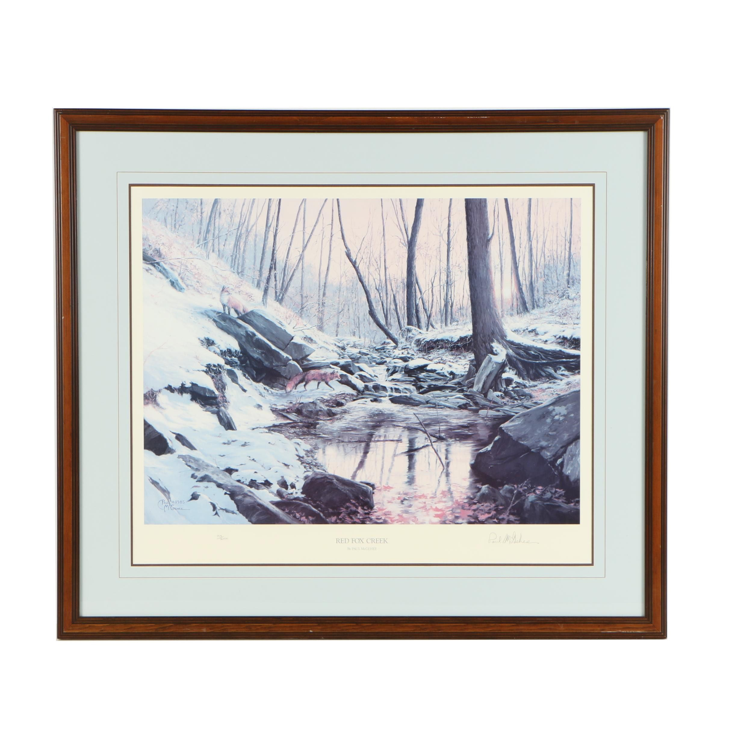 "Paul McGehee Offset Lithograph ""Red Fox Creek"""