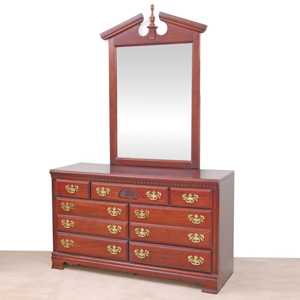Newport Chippendale Style Dresser with Mirror