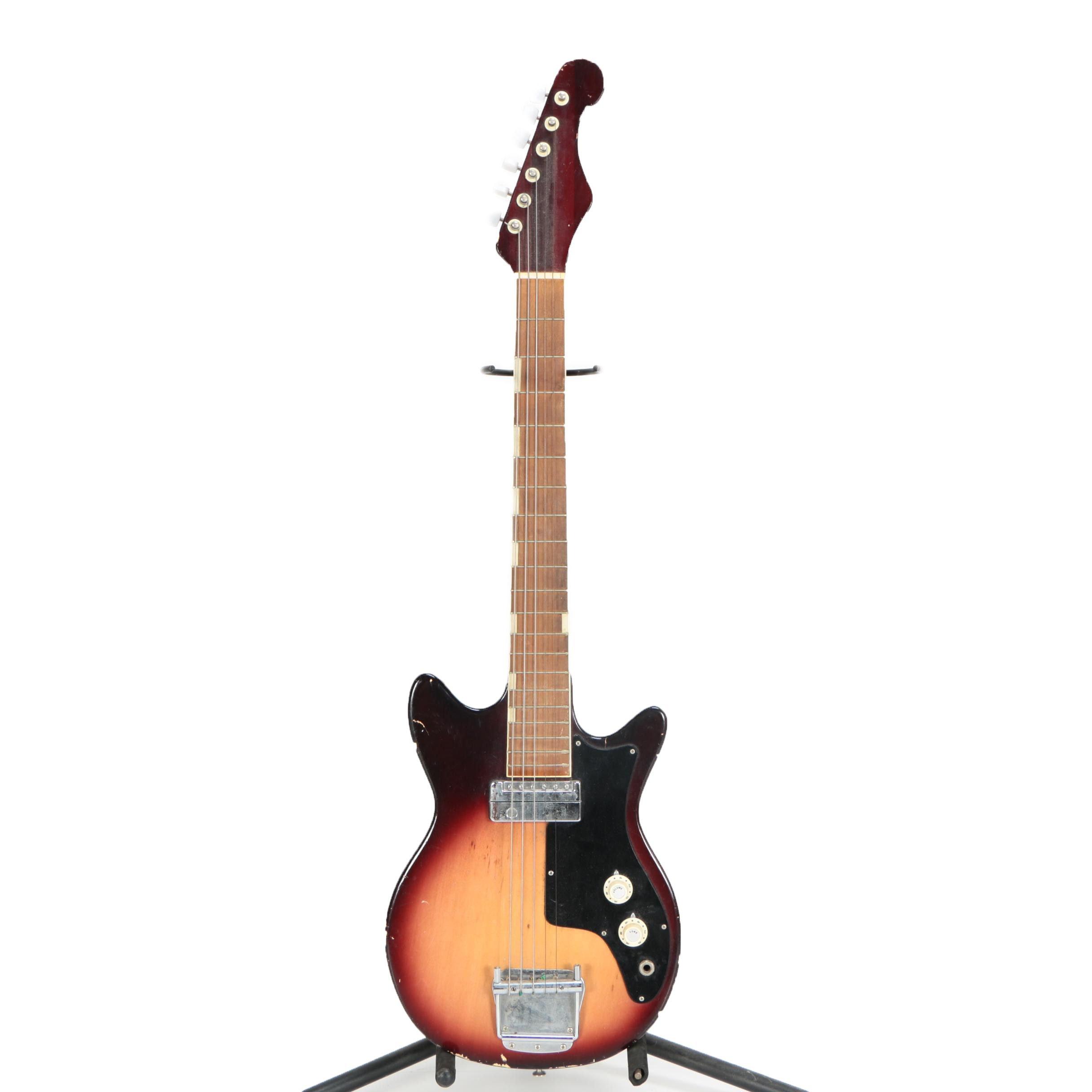 Vintage Teisco E 100 Japanese Electric Guitar With Tobacco Sunburst