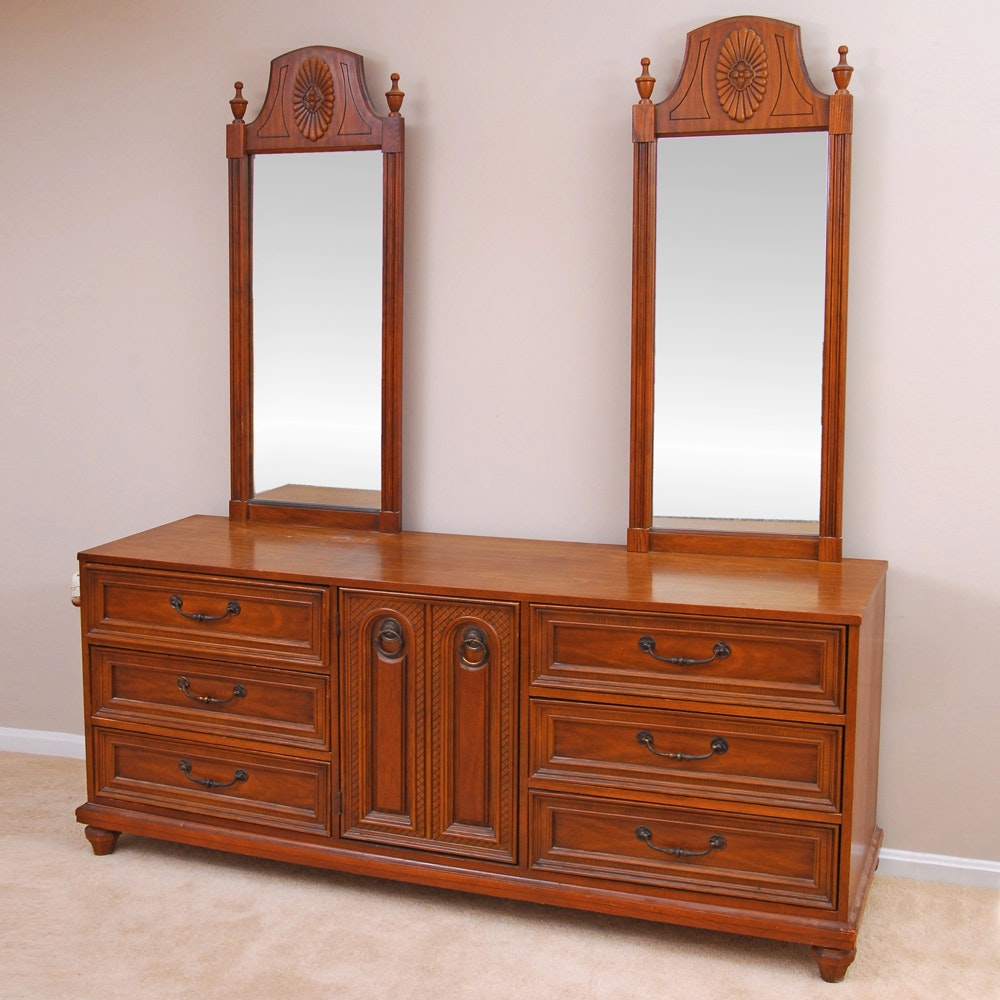 """Cortese"" Double Mirror Dresser by Bassett"