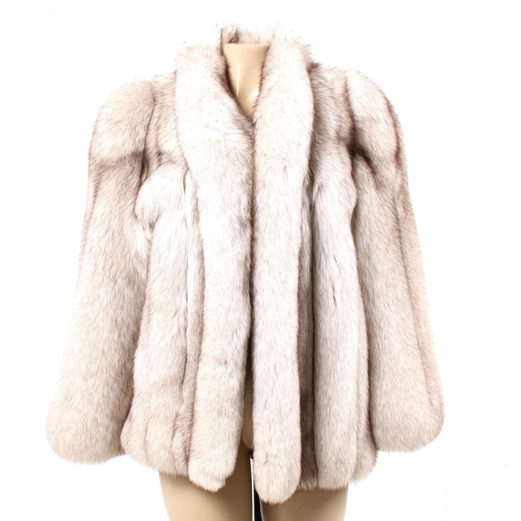 Distinctive Furs Blue Fox Fur Jacket