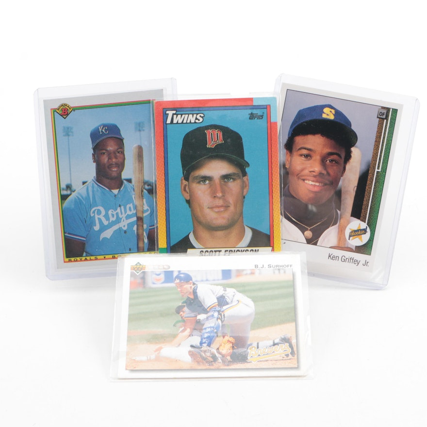 Baseball Cards Including Ken Griffey Jr Rookie Card