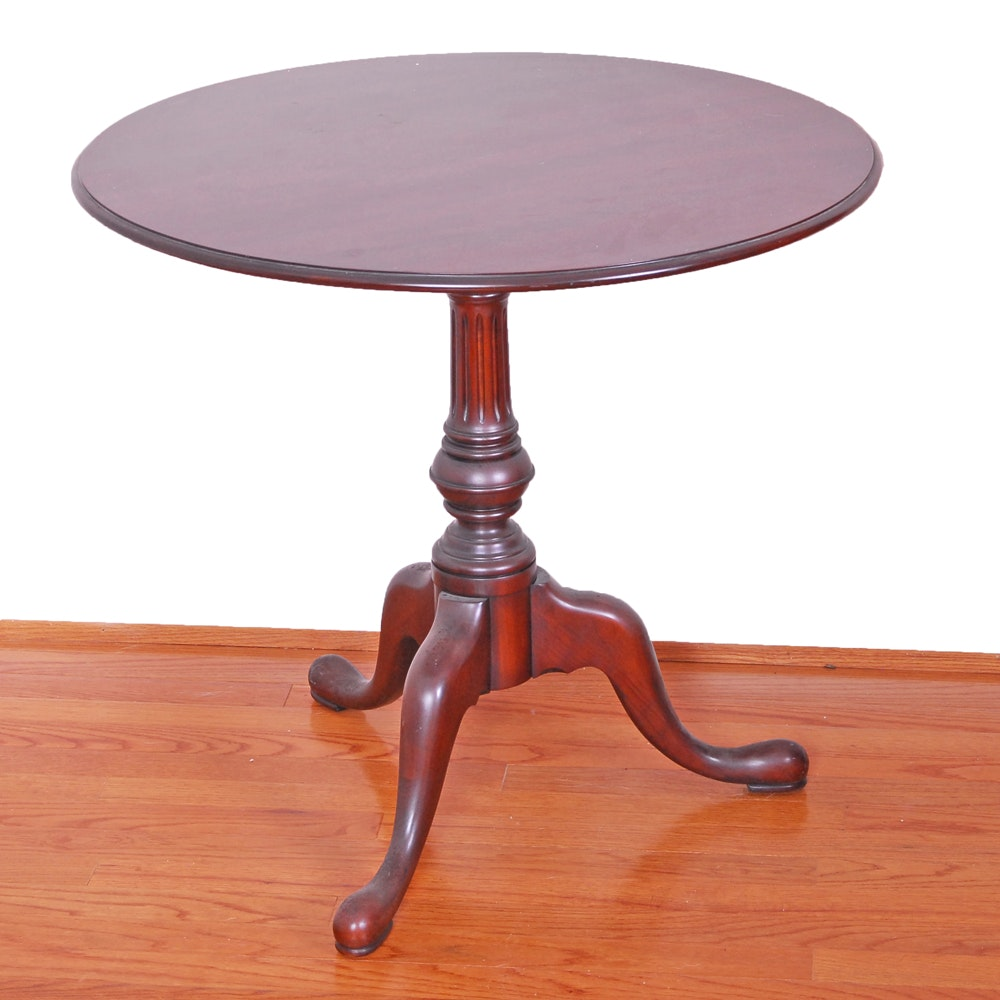 Queen Anne Style Tilt Top Table
