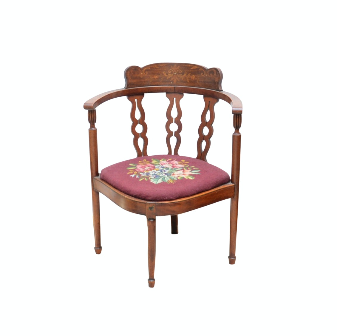 Antique Corner Chair With Marquetry ...