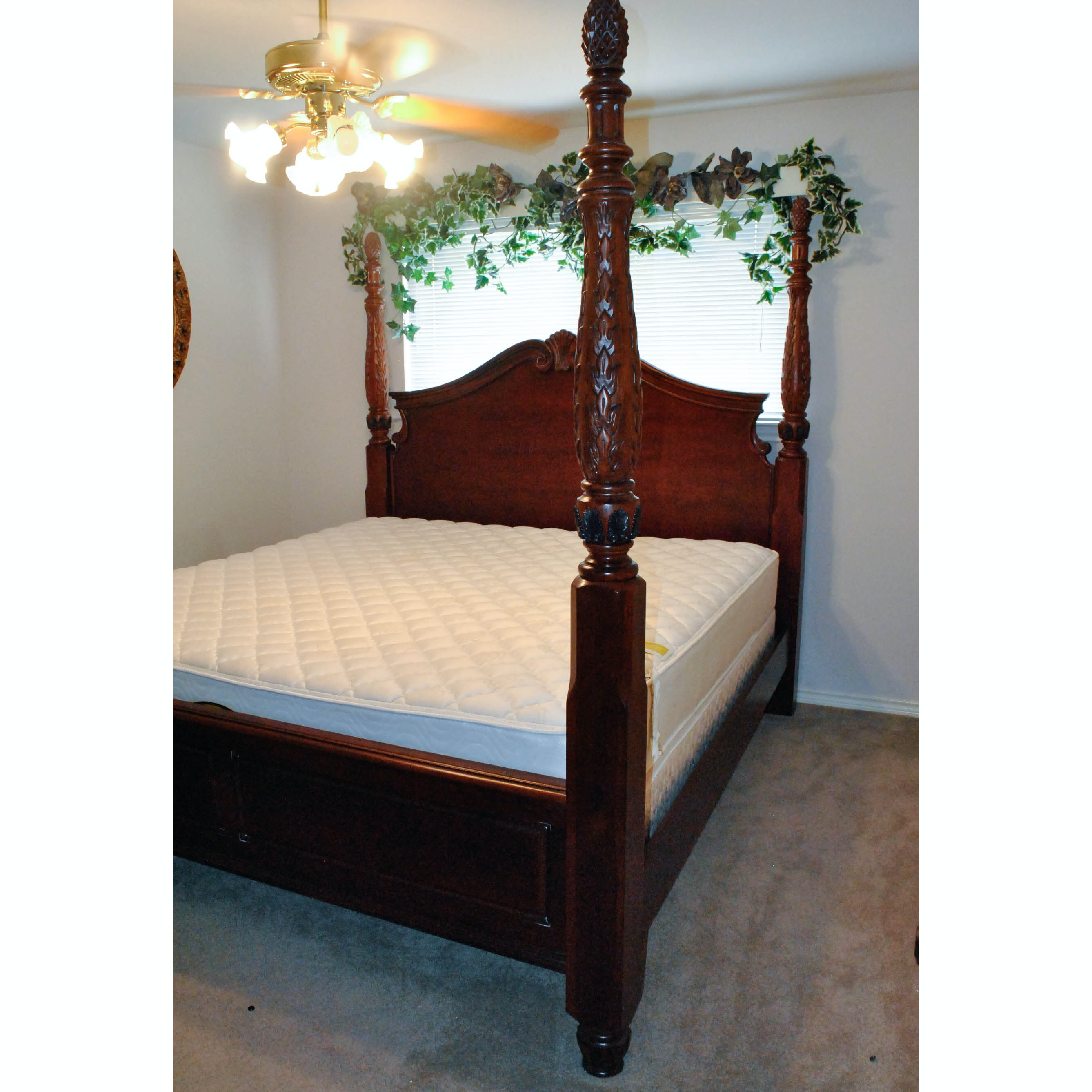 Contemporary King Size Four Poster Bed Frame
