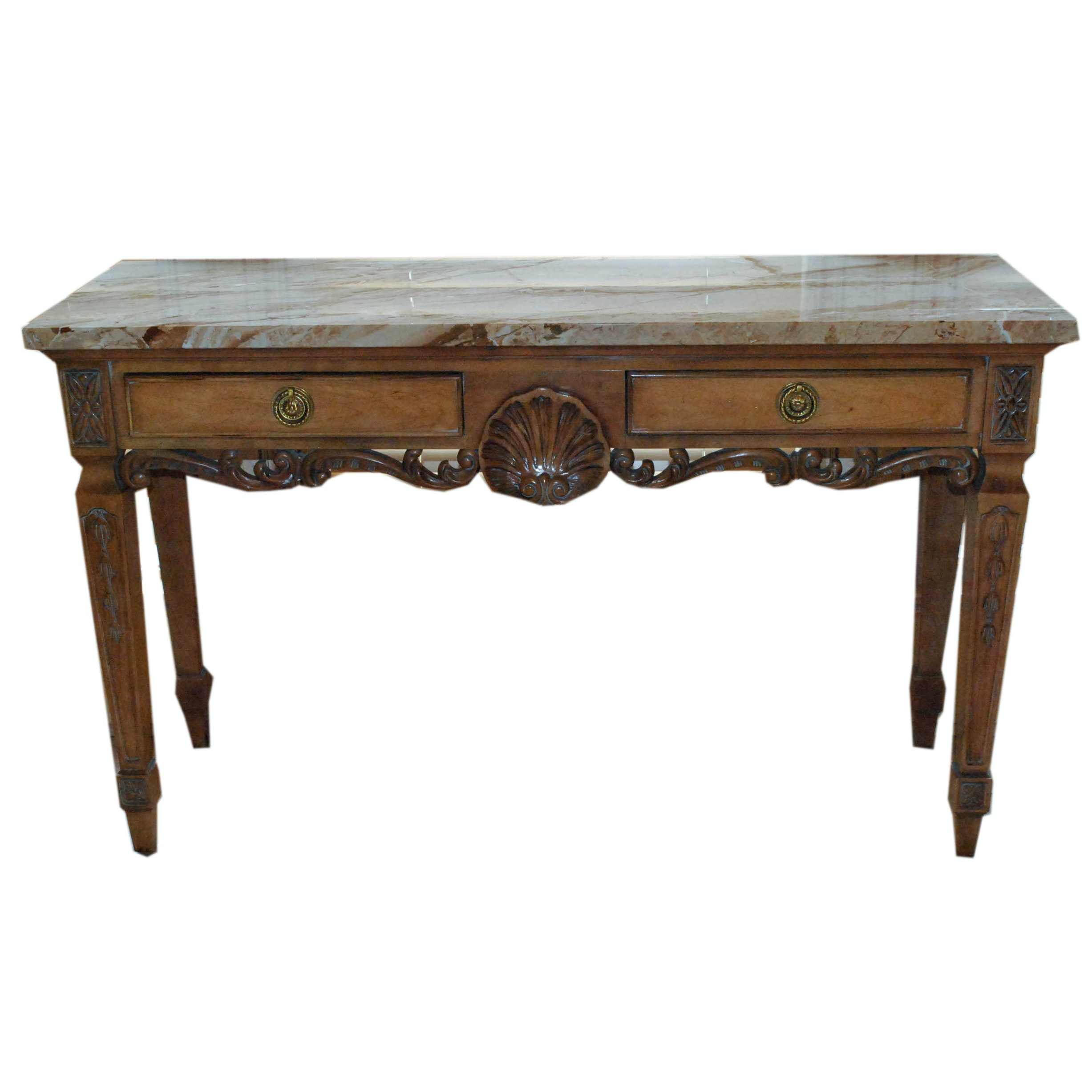 Stone Top Console Table by Century