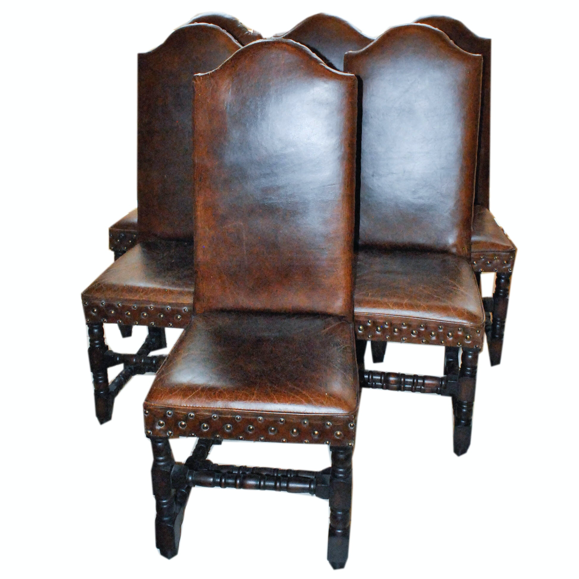 Faux Leather Spanish Restoration Style Chair Set