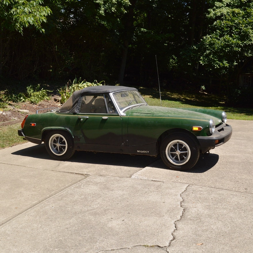 1979 MG Midget Convertible With Original Tonneau Cover EBTH