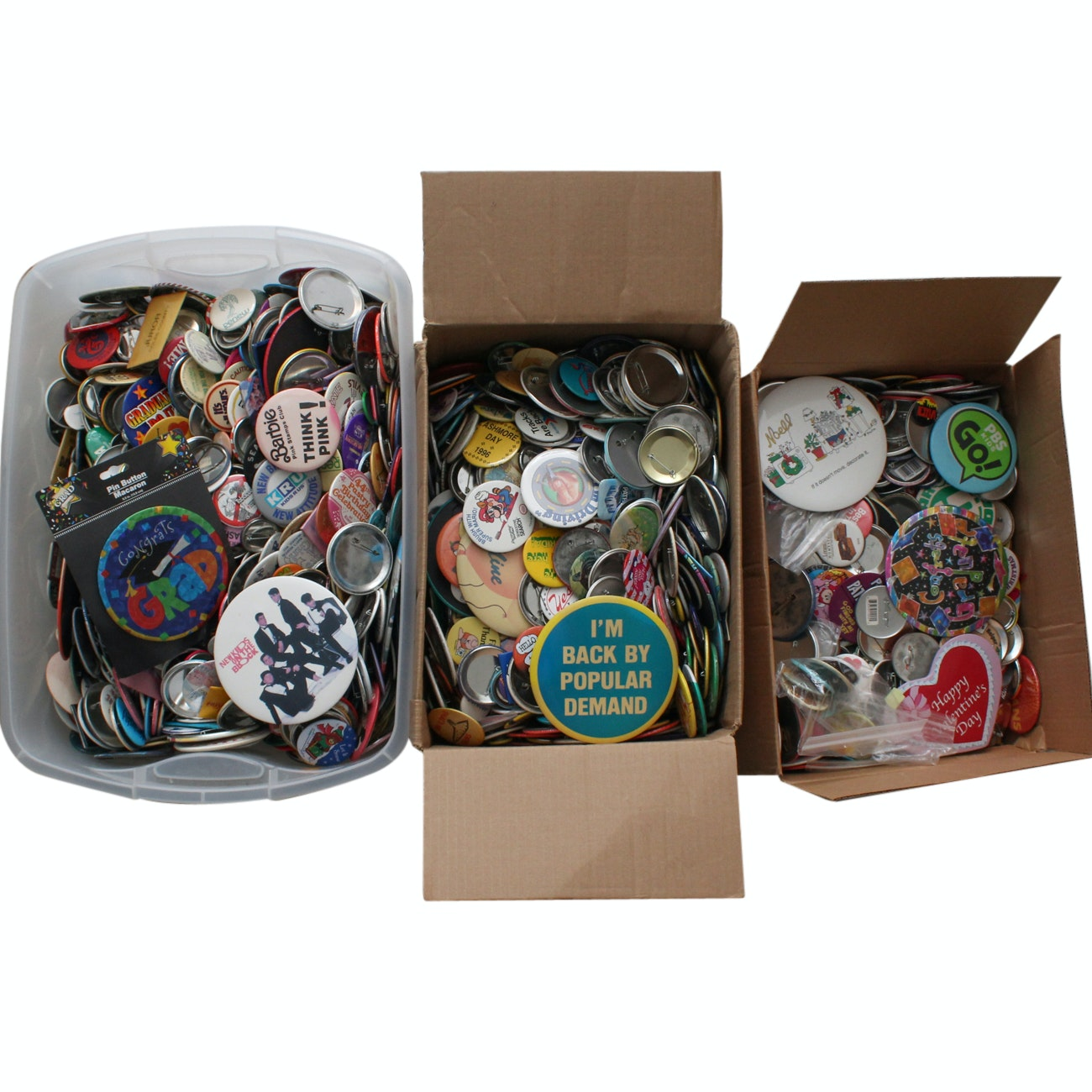 Large Grouping of Button Pins