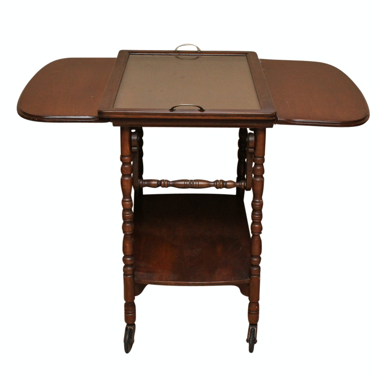 Wooden Drop Leaf Butlers Table