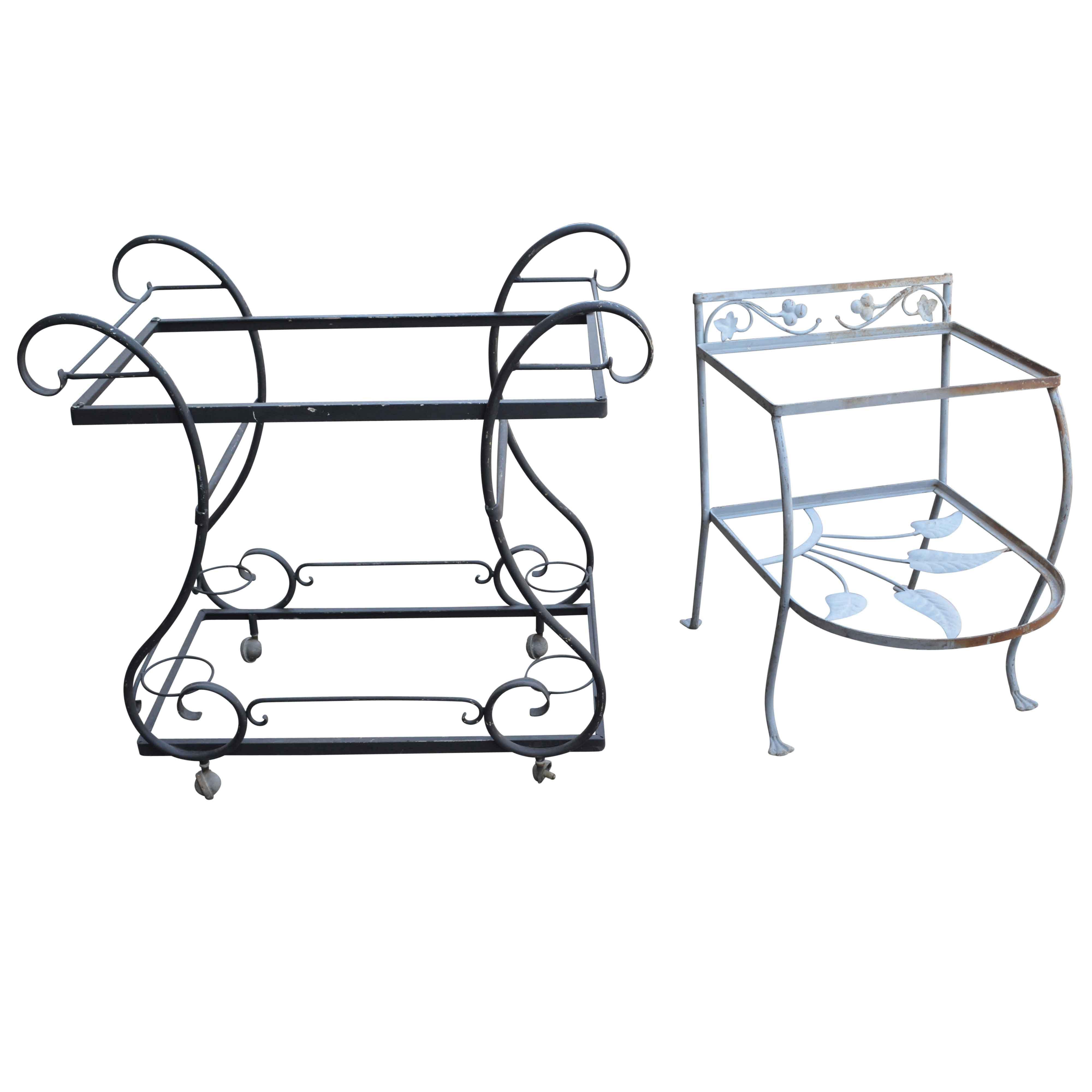 Wrought Iron Patio Bar Carts