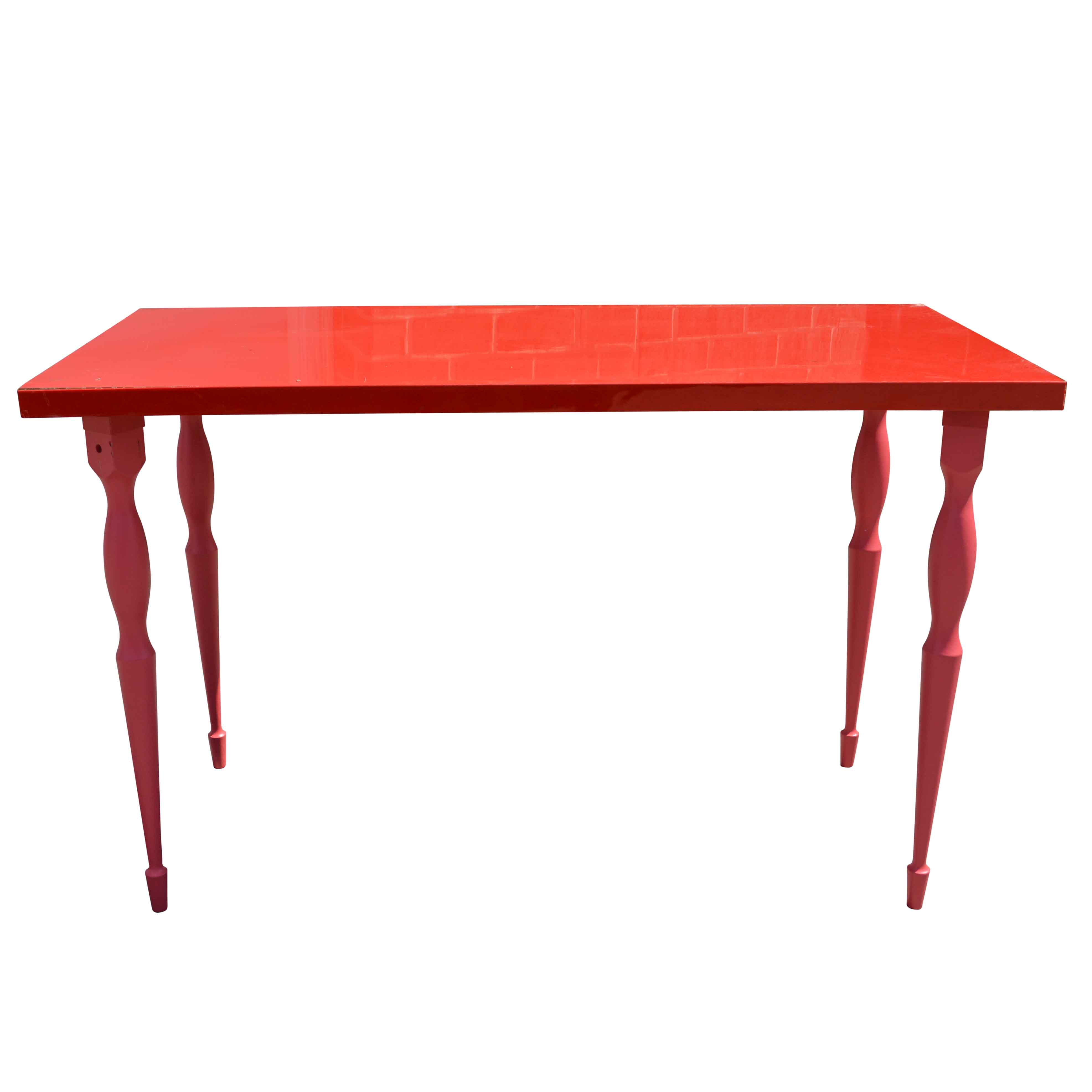 """Contemporary Red Painted """"Vika Amon"""" Table by IKEA"""