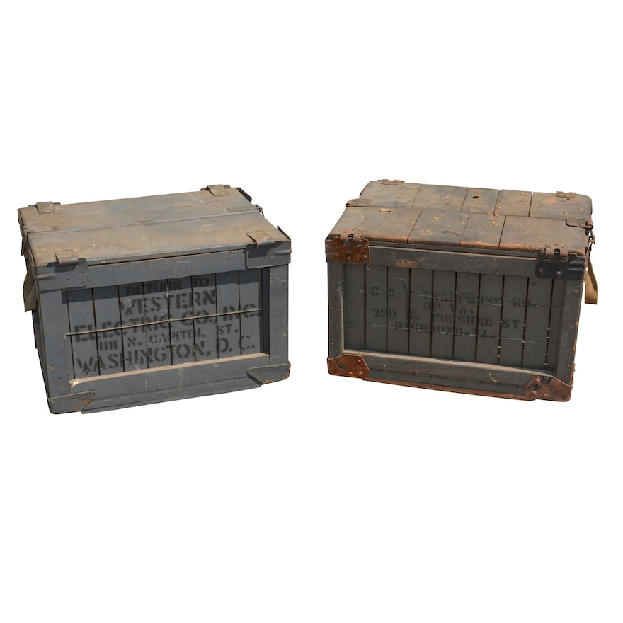 vintage wooden shipping crates - Wooden Shipping Crates