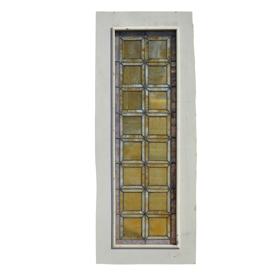 White Framed Stained Glass Window : EBTH