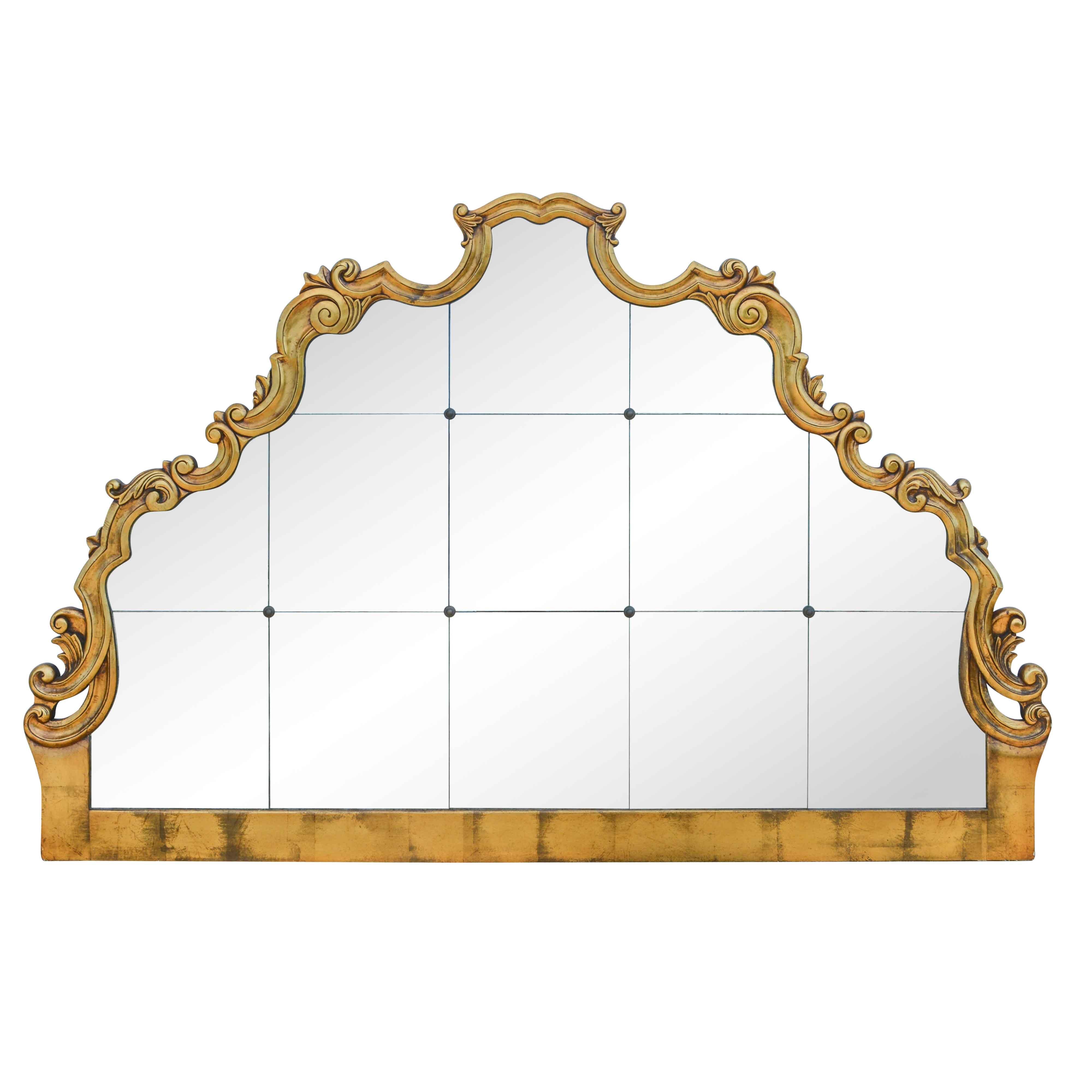 Rococo Style John Richard Fine Furniture Paneled Wall Mirror ...