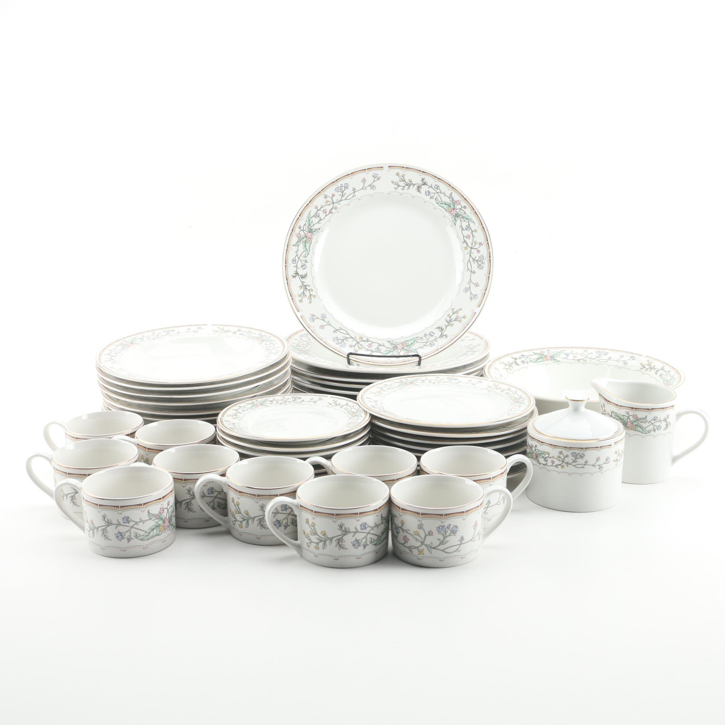 """Farberware """"Wellesley"""" Porcelain Dinner Service for Eight"""