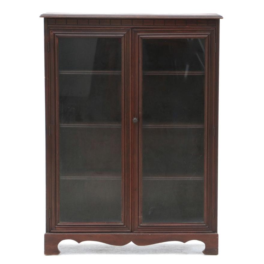 Antique Glass Door Mahogany Cabinet Ebth