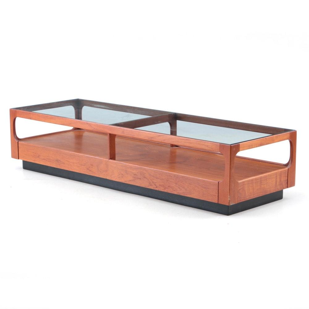 Otmar Walnut Coffee Table with Glass Top