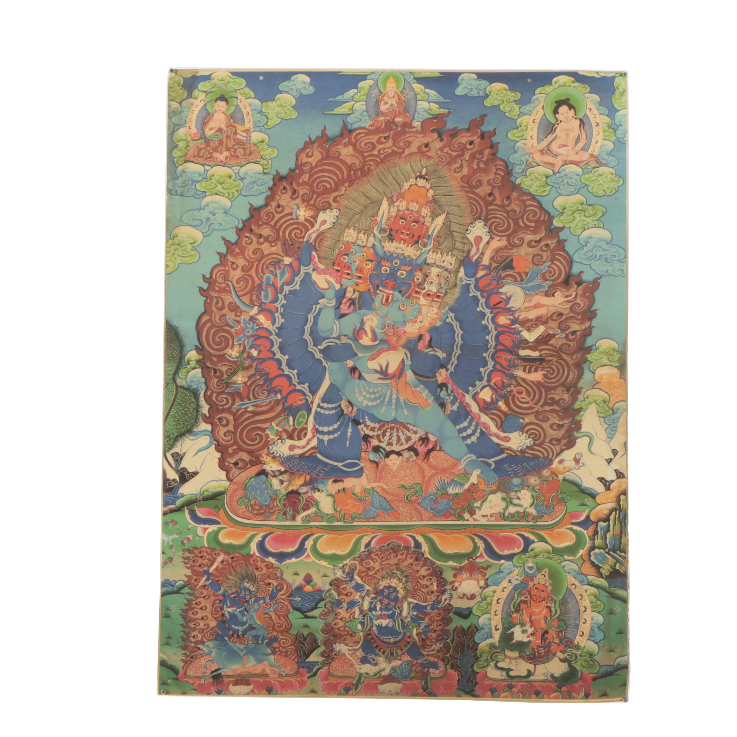Giclée after a Tibetan Buddhist Thangka of Yamantaka