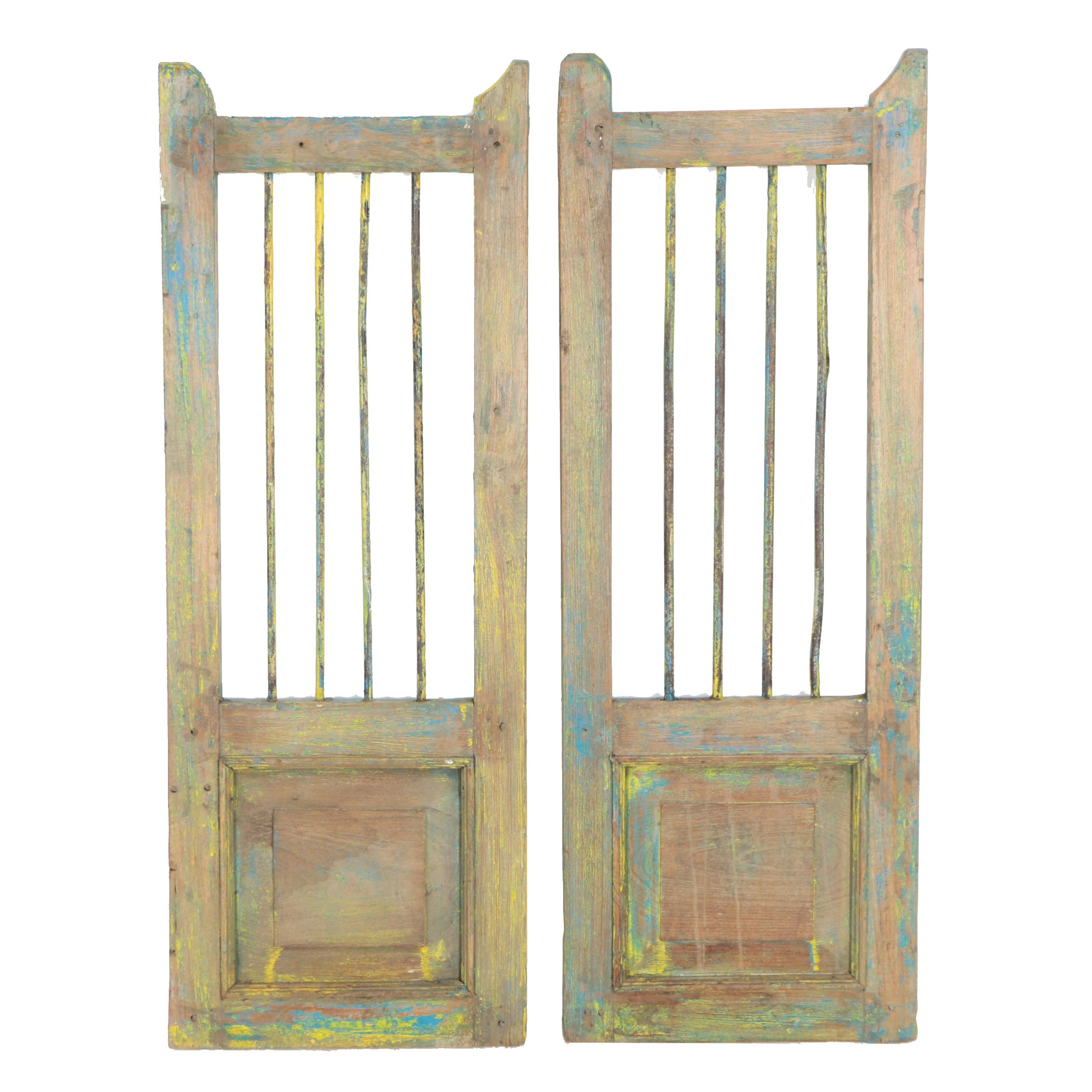 Vintage Barred Security Shutters