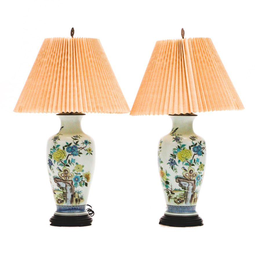 Hand Painted Chinese Inspired Ginger Jar Lamps