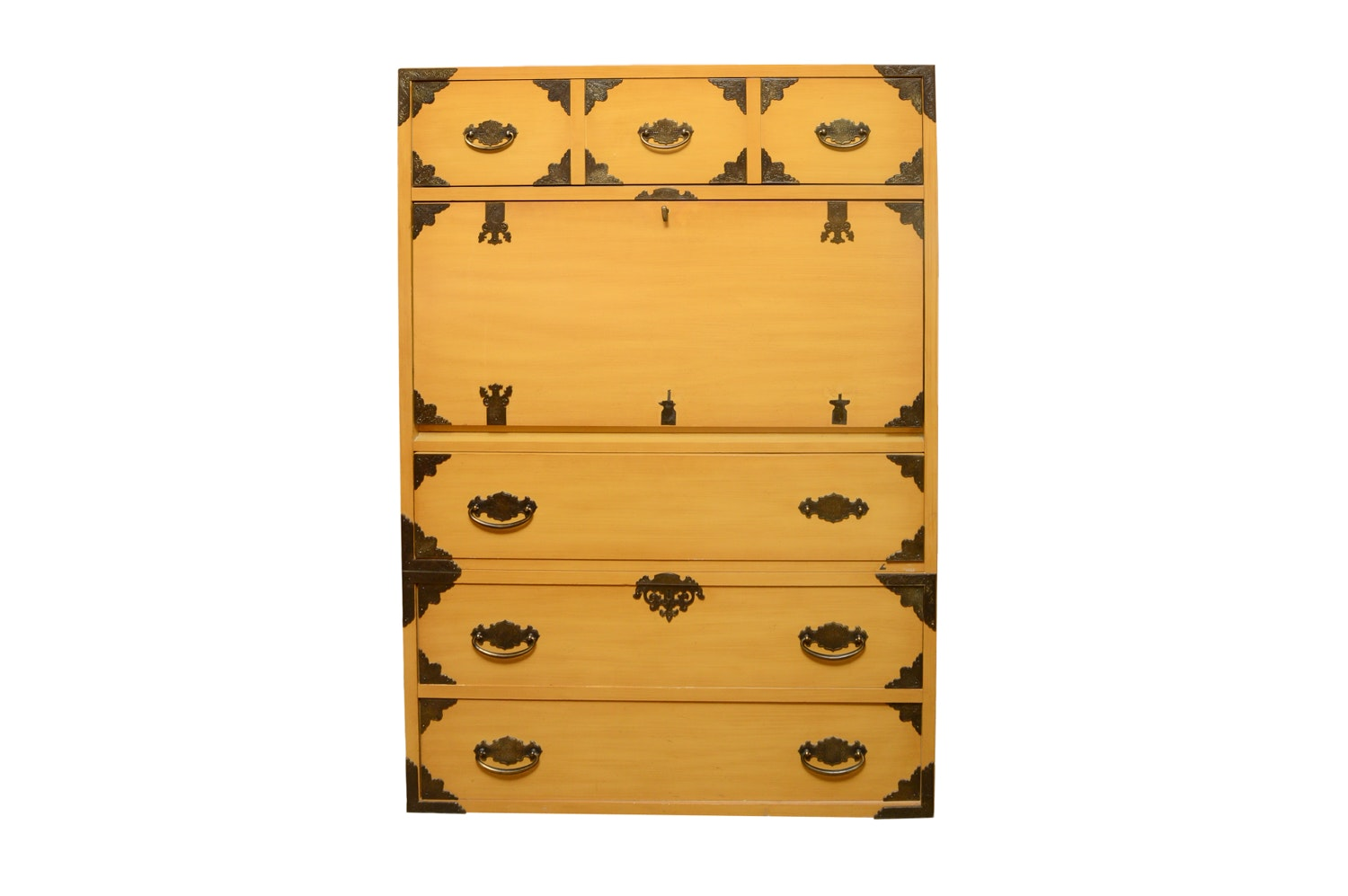 Vintage Japanese Style Chest of Drawers with Drop Panel Door by Thomasville