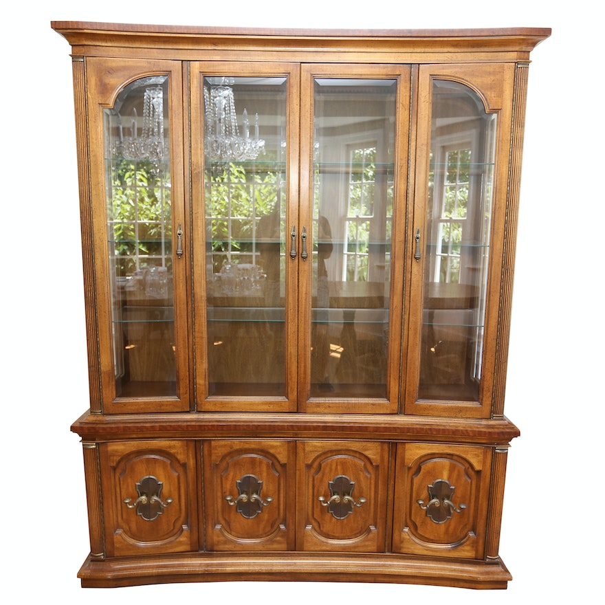 Vintage Mediterranean Style China Cabinet By Unique Furniture Makers