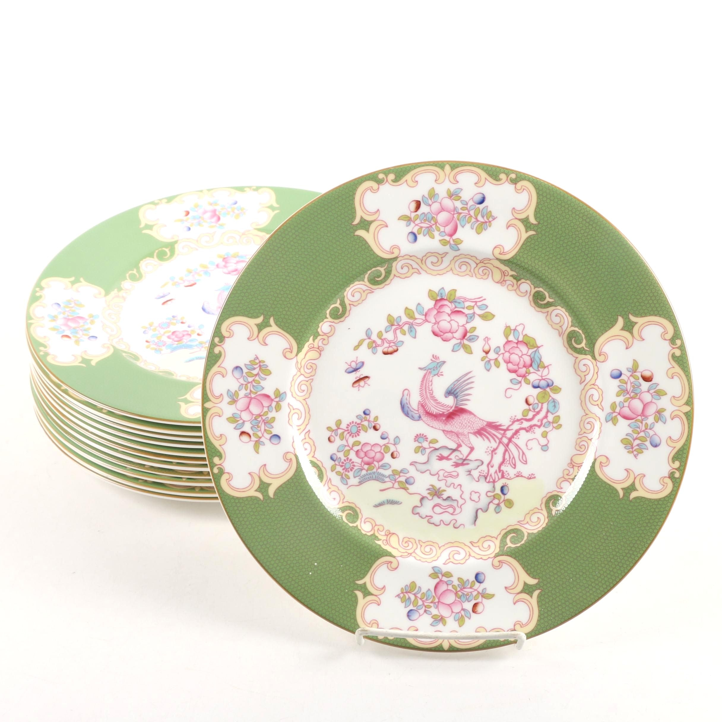 Minton  Green Cockatrice  Bone China Dinner Plates ...  sc 1 st  EBTH.com & Vintage Tableware Auction | Antique Tableware Auctions in Sterling ...