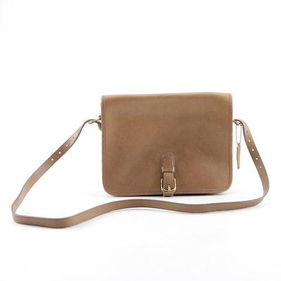 b5746559e89e Vintage New York City Coach Taupe Leather Crossbody Bag