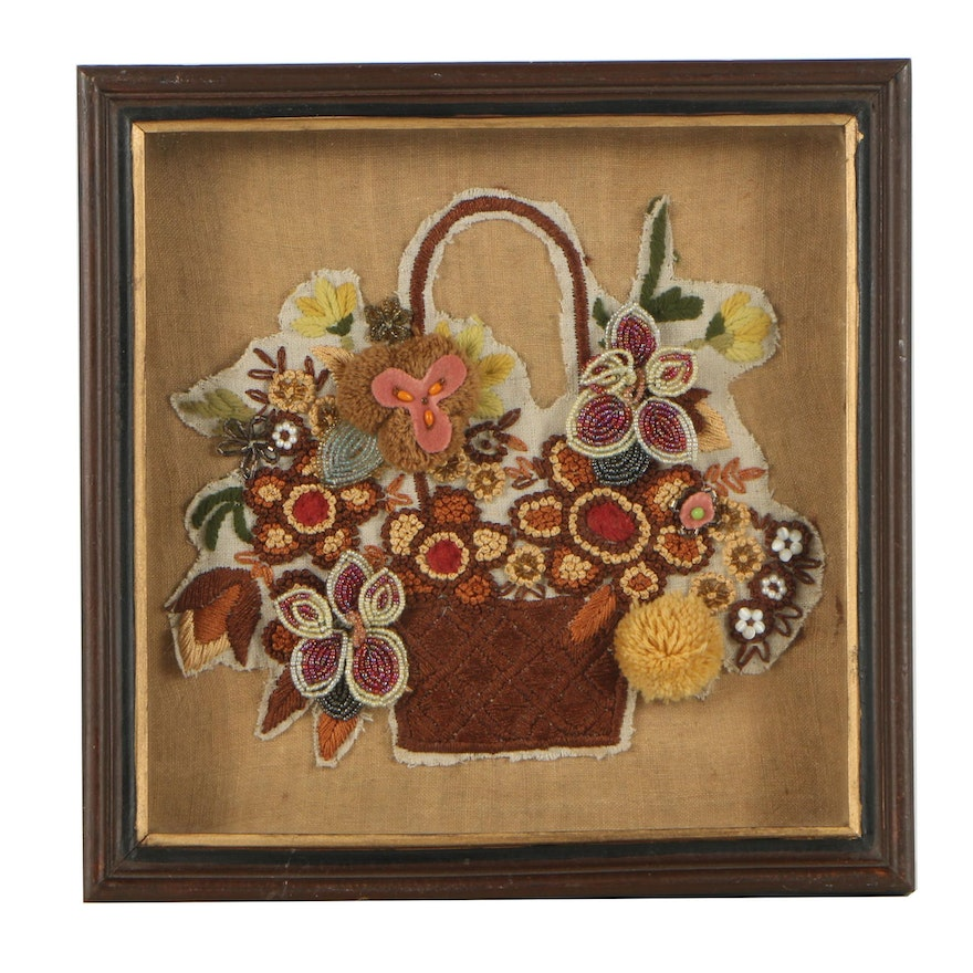 Framed Beaded & Embroidered Flower Wall Art from Anthropologie : EBTH