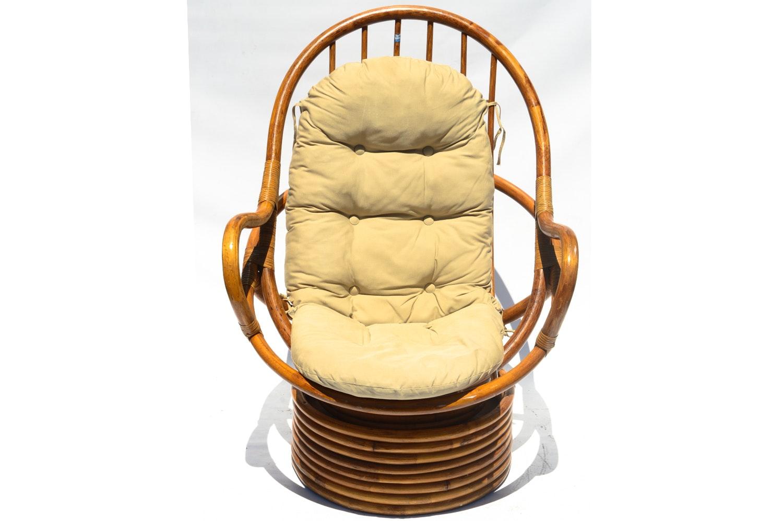 Swivel Rockasan Rattan Chair By Pier 1 ...